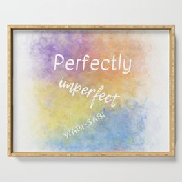 Perfectly Imperfect - Wabi-Sabi (white, blue, orange, yellow, purple) Serving Tray