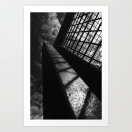 Black and white lines and shadows Art Print
