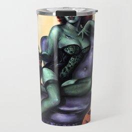 Halloween Zombie Girl Pin Up Travel Mug