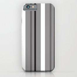 Grey White & Black Stripes iPhone Case