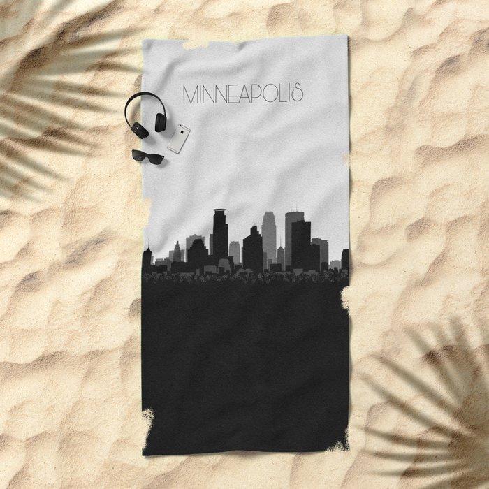 City Skylines: Minneapolis Beach Towel
