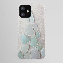 Sea Foam Sea Glass Christmas Tree #Christmas #seaglass iPhone Case