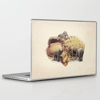 paradise Laptop & iPad Skins featuring Elephant's Paradise by Eric Fan