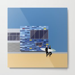 Surf Club, Lyall Bay, Wellington, NZ Metal Print
