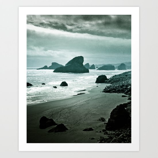 Moonlight bay Art Print