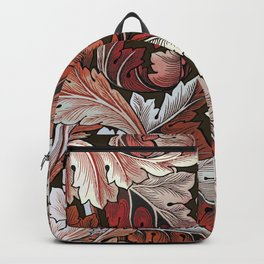 Art Nouveau William Morris Autumn Acanthus Leaves Backpack