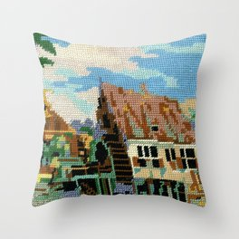 Found Tapestry Mill Throw Pillow
