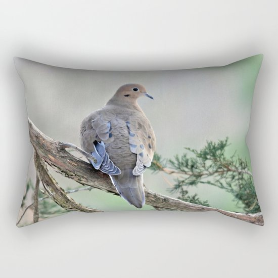Gentle Dove Rectangular Pillow