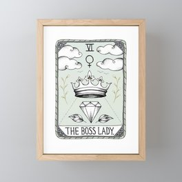 The Boss Lady Framed Mini Art Print