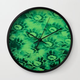 Teal Floral Wall Clock
