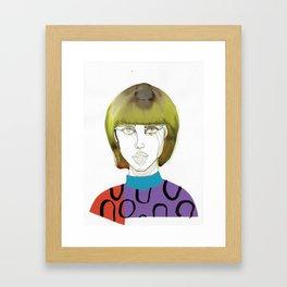 Tora Tough, a tough lady Framed Art Print