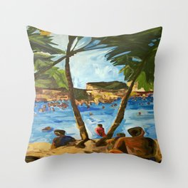 """Welcome to Streets Beach"" Throw Pillow"
