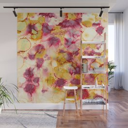 Nature's Grace - Alcohol ink painting Wall Mural