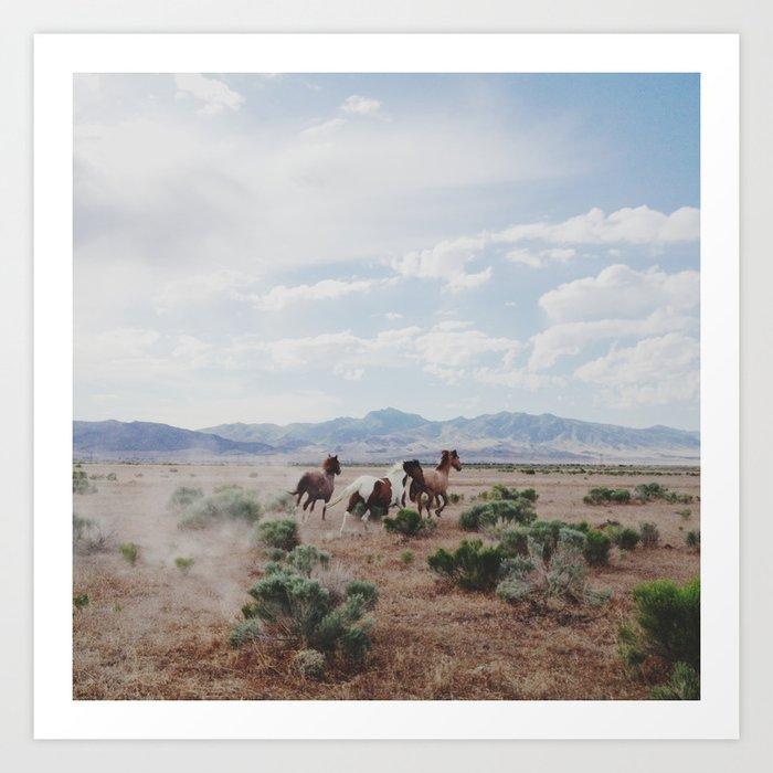 Running Horses Art Print