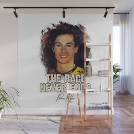 The Race Never Ends - Primoz Roglic Wall Mural