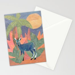 Blue Antelope in the Jungle Stationery Cards