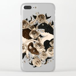 Rats and Peonies Clear iPhone Case