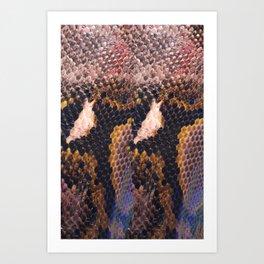 Snakeskin landscape Art Print