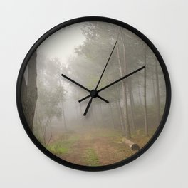 Dream forest. Into the foggy woods. Sierras de Cazorla Wall Clock