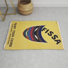 FISSA L. Cappiello 1933 Poster Ad for Painting Leather Rug