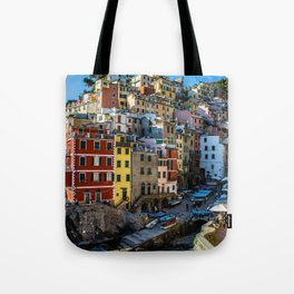 Colorful Village in Italy Tote Bag