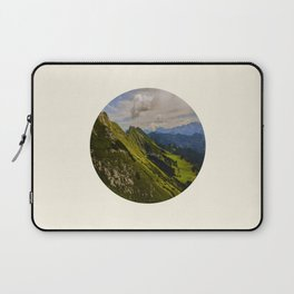 Green Musical Mountains Round Photo Frame Laptop Sleeve