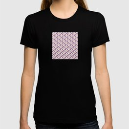 3D geometric pattern in rose quartz and bodacious colours T-shirt