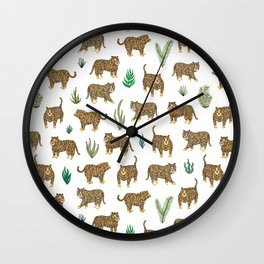 Jungle Tigers light by Veronique de Jong Wall Clock