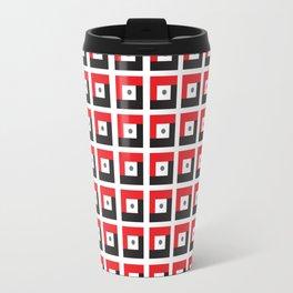 Red & Black L7 Squares Travel Mug
