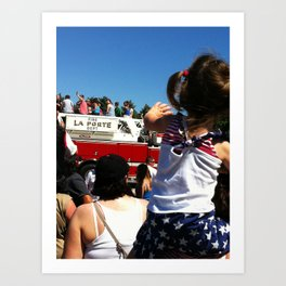 Wave to the Fireman! Art Print