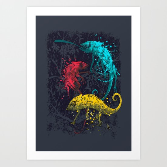Coloration Art Print