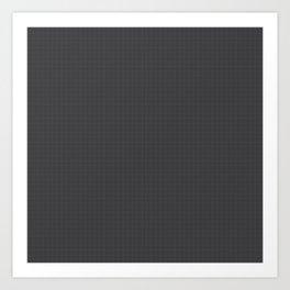 Black & Grey Simulated Carbon Fiber Art Print