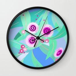 Gum flowers digital painting Wall Clock