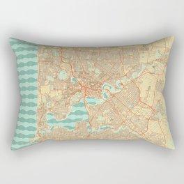 Perth Map Retro Rectangular Pillow