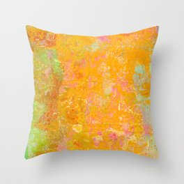 Delight, Marbled Abstract Art Painting Throw Pillow