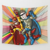 hero Wall Tapestries featuring Hero Fight! by neicosta