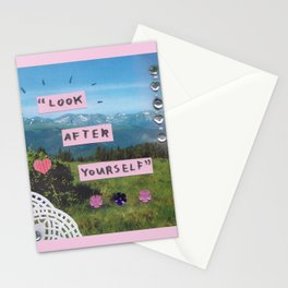 look after yourself Stationery Cards