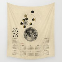 kubrick Wall Tapestries featuring 2016 Full Moon Calendar by J Arell
