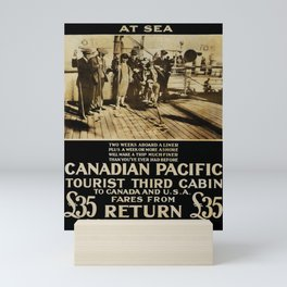 vintage placard A Fine Holiday at Sea Mini Art Print