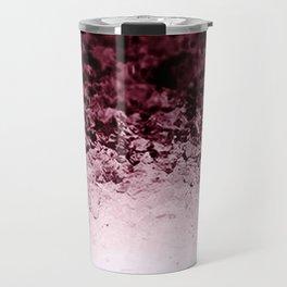 Burgundy CrYSTALS Ombre Gradient Travel Mug