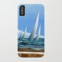 geology iPhone & iPod Cases featuring The Geology of Boating by Patricia Howitt