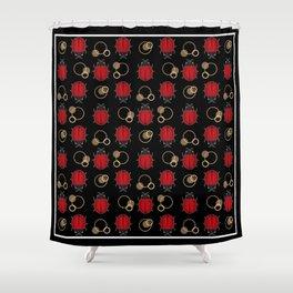 Cheerful ladybugs . Shower Curtain