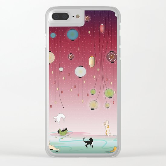 Cat's Paradise Clear iPhone Case