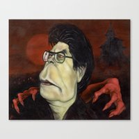 stephen king Canvas Prints featuring Stephen King by GDoobwa