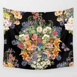 Lush Baroque Floral Wall Tapestry