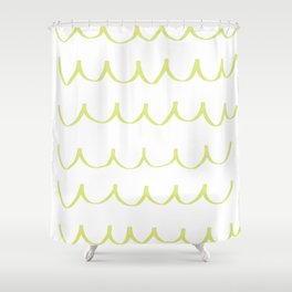Citron Green Waves Shower Curtain