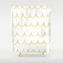 Citron Green Waves Shower Curtain