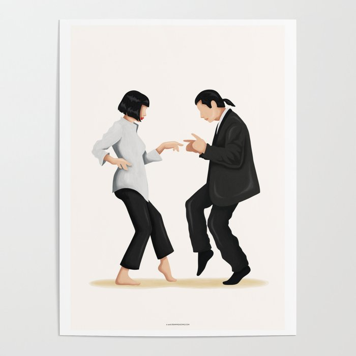 Pulp Fiction Twist Dance Poster