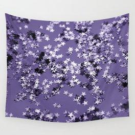 Ultra Violet Glitter Stars #1 #shiny #decor #art #society6 Wall Tapestry