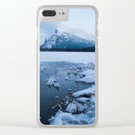 Winter in Banff Alberta Clear iPhone Case